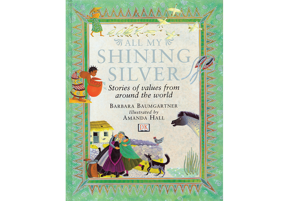 Amanda Hall Books 'All My Shining Silver book cover'