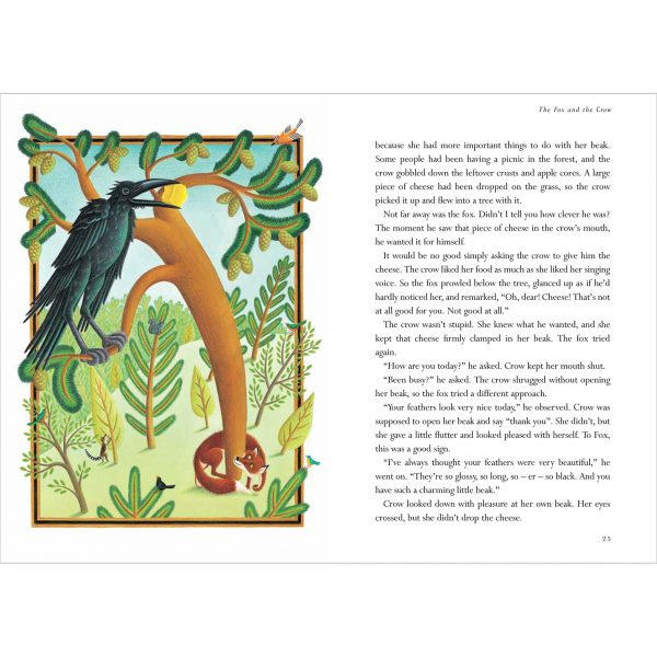 Illustration from The Lion Classic Aesops Fables. 'The Fox and the Crow'