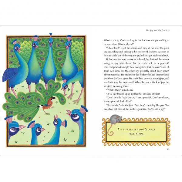 Illustration from The Lion Classic Aesops Fables. 'The Jay and the Peacocks'