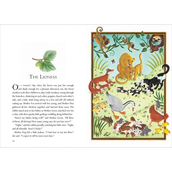 Illustration for Aesop's 'The Lioness'