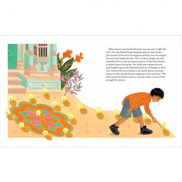 In Andals House. 'Kumar was sent out to light the oil in the clay Diwali lamps'