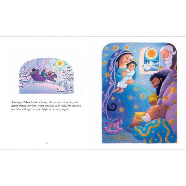 Illustration 'Babushka dreams about the nativity'