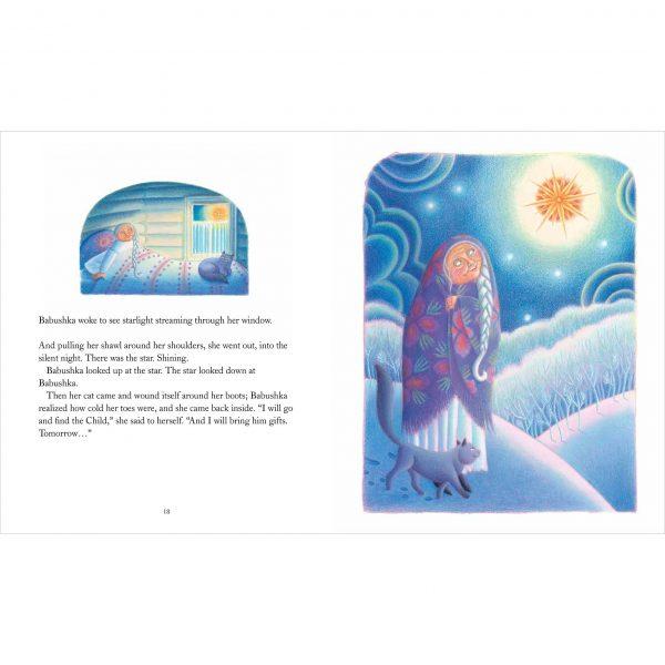 Illustration from Babushka by Dawn Casey 'Babushka looked up at the star'