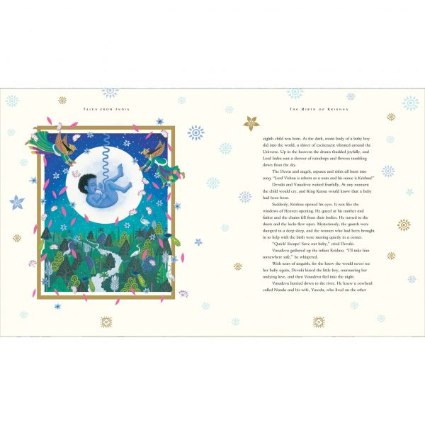 Tales from India by Jamila Gavin Gallery. 'The Birth of Lord Krishna'