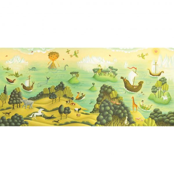 Illustration from Out of This World: The Surreal Art of Leonora Carrington. 'An imagined world for Leonora'