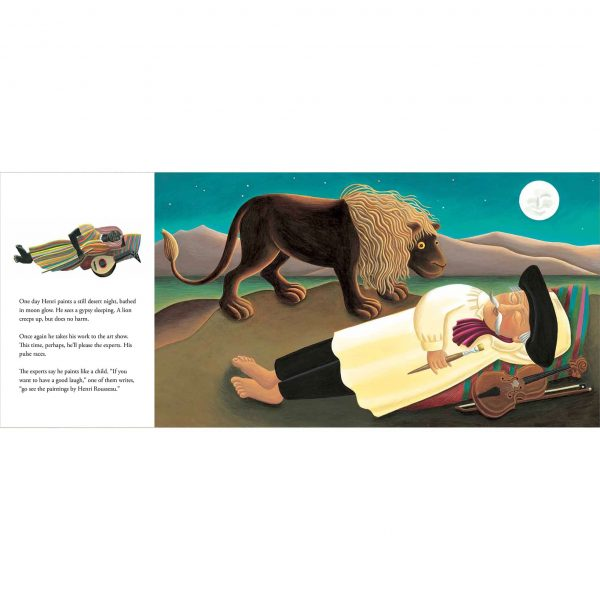 Illustration 'Based on Henri Rousseau's painting The Sleeping Gypsy'