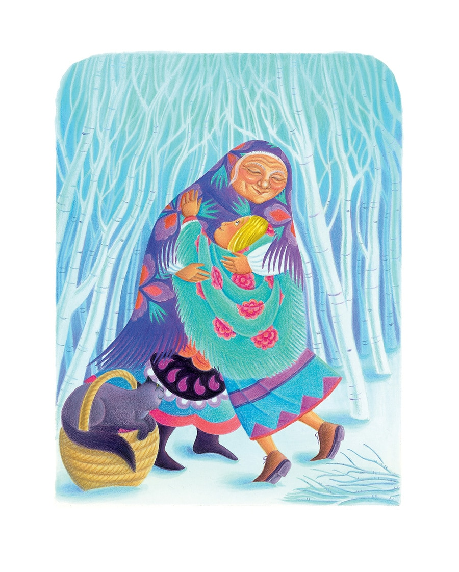 Babushka by Dawn Casey Gallery. Illustration18 'Babushka hugs the little girl tight' (Pixel dimensions available w2097 x h2741)
