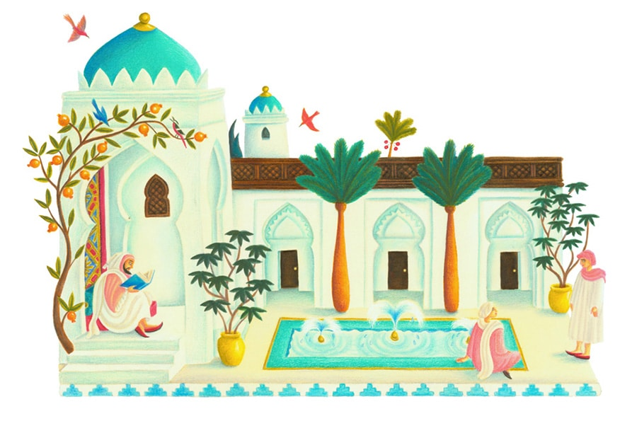 Illustrations for Children's Picture Books 29 MOROCCAN HOUSE (Pixel dimensions available w2533 x h1666)
