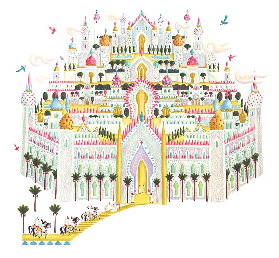 Illustrations for Children's Picture Books. Illustration 31 'The Paradise City' (Pixel dimensions available w7161 x h6621)