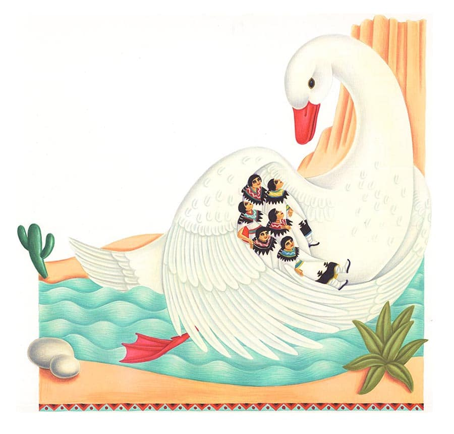 Illustrations for Children's Picture Books 32 CORN MAIDENS (Pixel dimensions available w6554 x h6277)