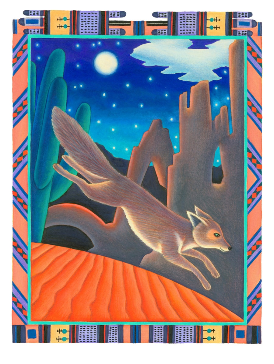 Coyote Girl Gallery. Illustration 4 'Blue Corn Maiden could run as fast as the wind'