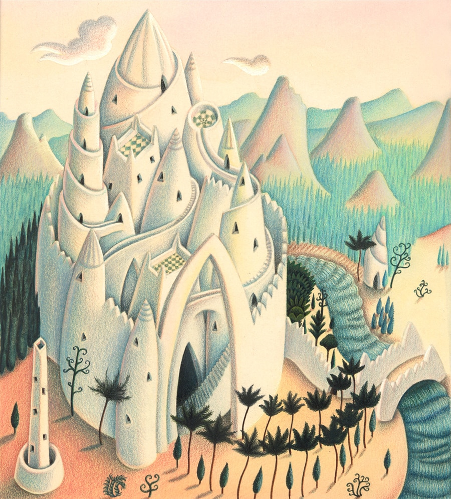 Illustrations for Children's Picture Books. Illustration 2 'The Castle' (Pixel dimensions available w1981 x h2190)