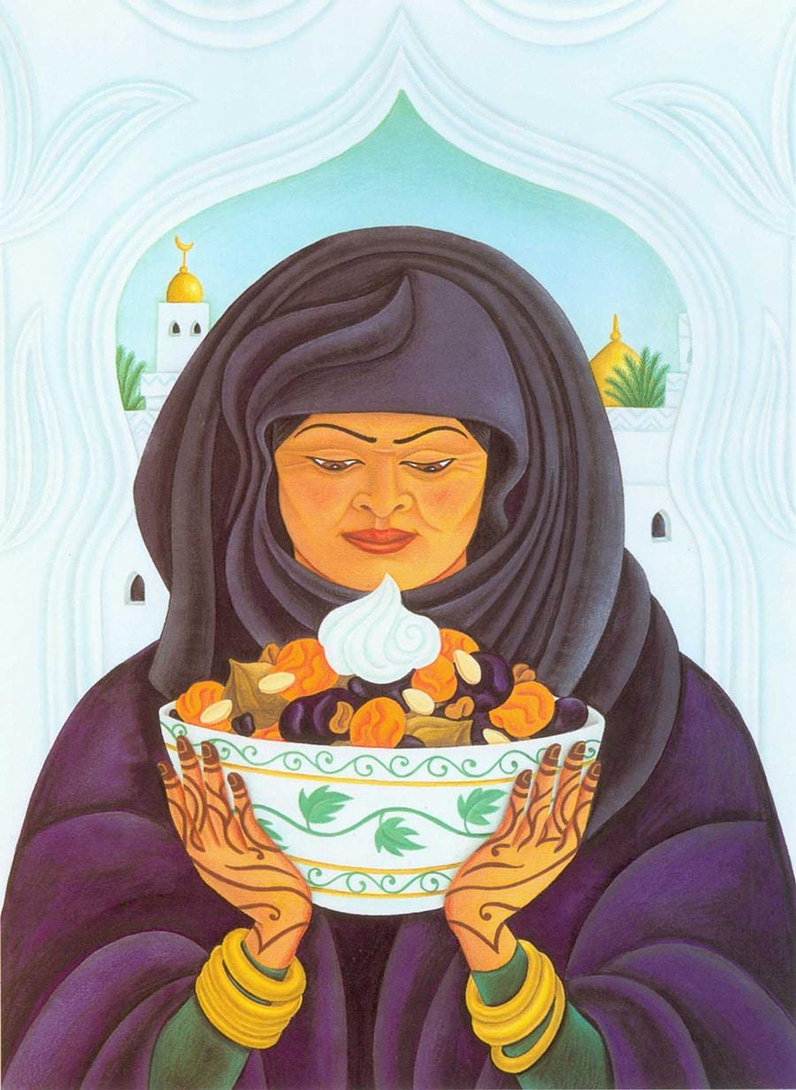 Hand Drawn Food Illustrations. Illustration 6 'Khoshaf' (Pixel dimensions available w1569 x h2148)