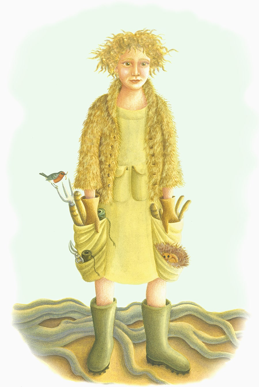 Illustrations for Children's Picture Books 5 GARDEN GIRL (Pixel dimensions available w1782 x h2684)