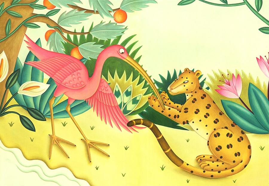 "Ibis and Jaguars Dinner Gallery. Illustration 6 ""Your beak is even longer and thinner"" said Jaguar'"