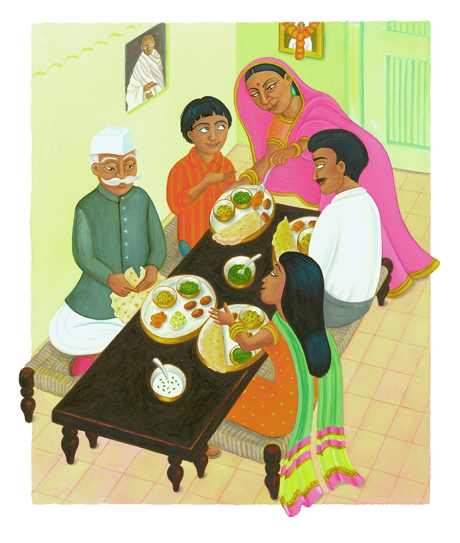 """In Andals House Gallery. Illustration 1 """"Are you sure you are invited to Andal's house?"""" Kumar's mother asked'"""