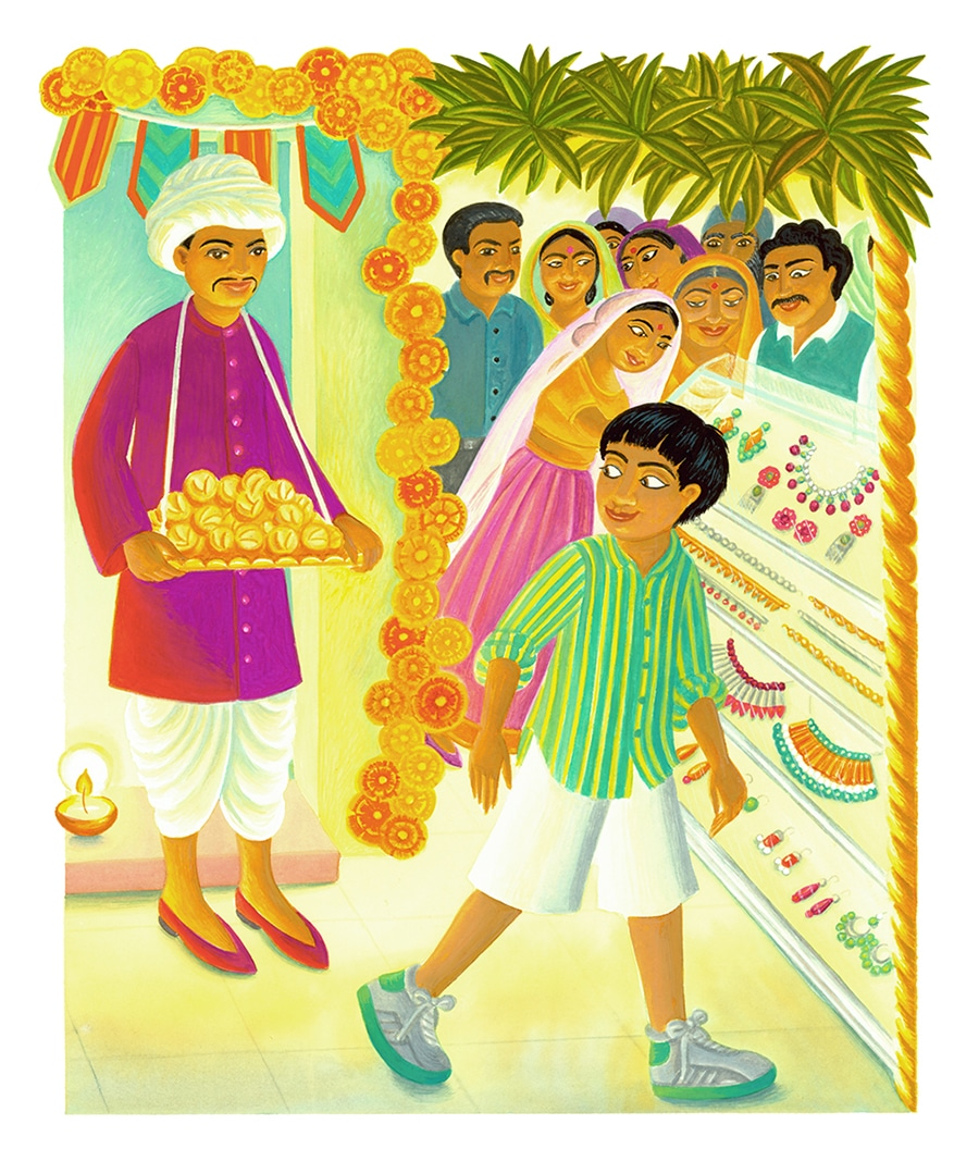In Andals House Gallery. Illustration 4 'Doorways were decorated with garlands of mango leaves and marigolds'
