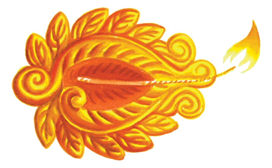 Illustration 8 'The Diwali lamp'