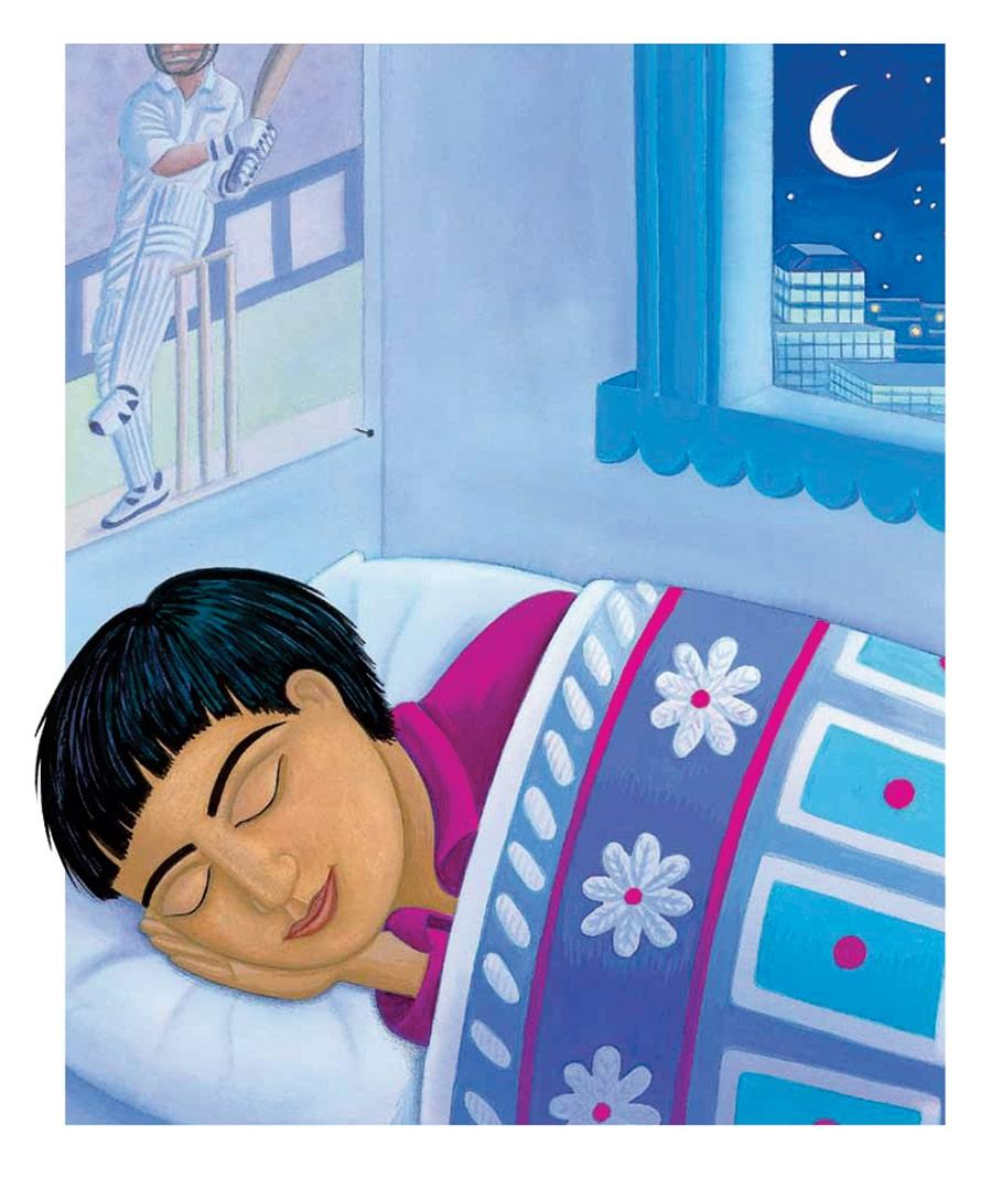 Illustration 9 'At last Kumar went to sleep'