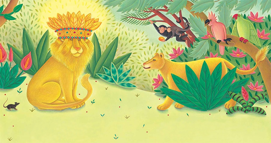 Lions Precious Gift Gallery. Illustration 1 'Lion had the most magnificent crown'
