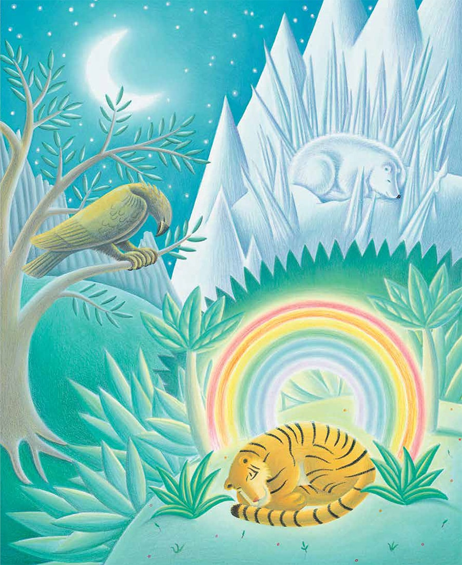 Lions Precious Gift Gallery. Illustration 3 'Every animal dreamed its own dream'
