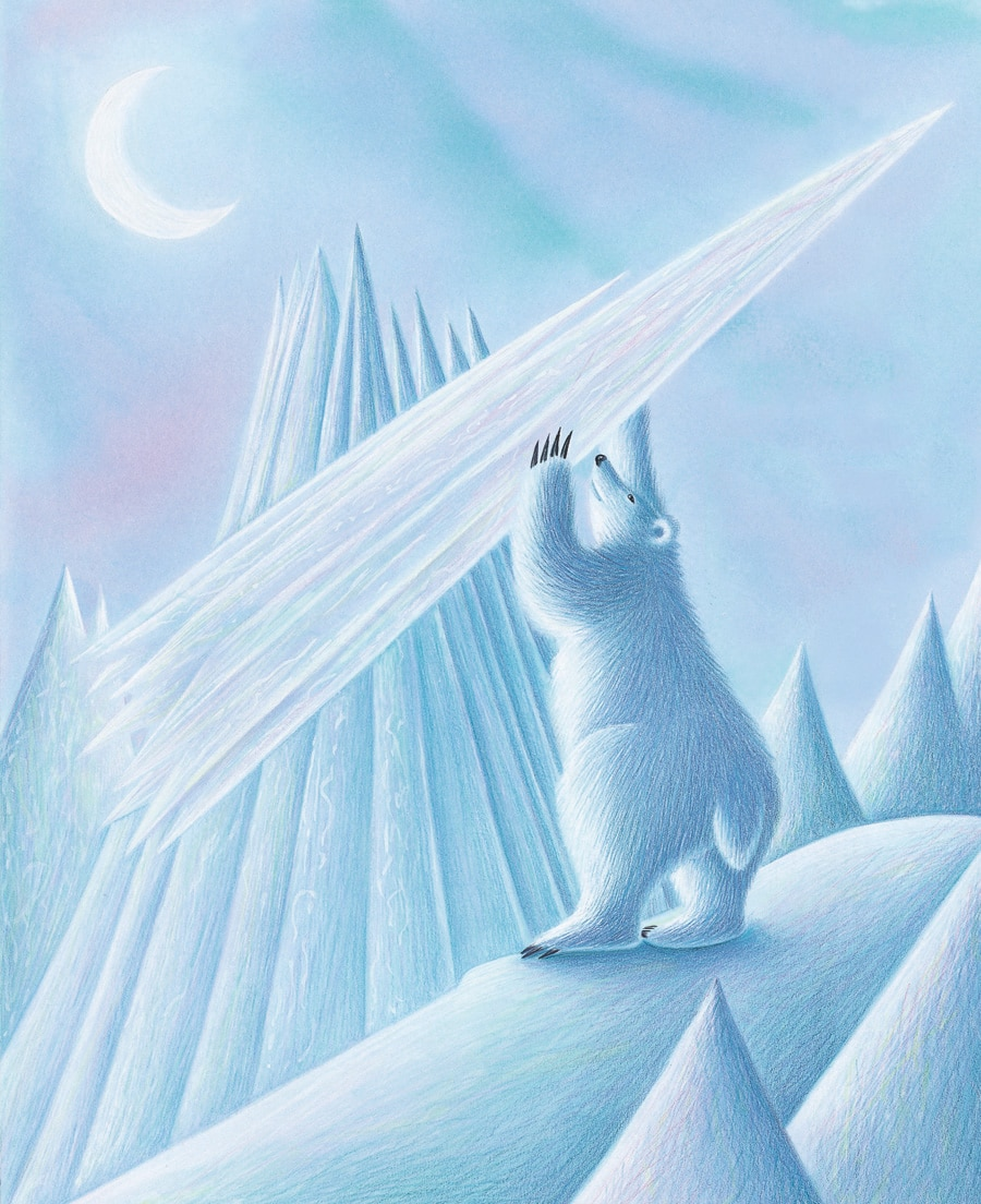 Lions Precious Gift Gallery. Illustration 4 'Polar Bear snapped off the tip of the North Pole'