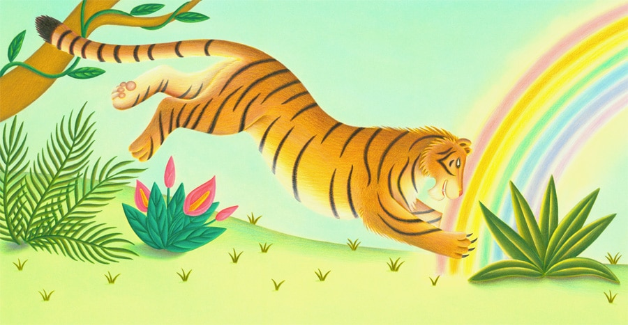 Lions Precious Gift Gallery. Illustration 5 'Tiger saw a beautiful rainbow'