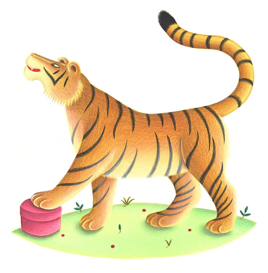 """Illustration 8 """"My gift is the most precious"""" boasted Tiger'"""