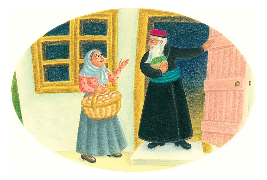 Never Too Quiet Gallery. Illustration 5 'Rabbi Pinchas found himself thinking of Shana, the egg lady'