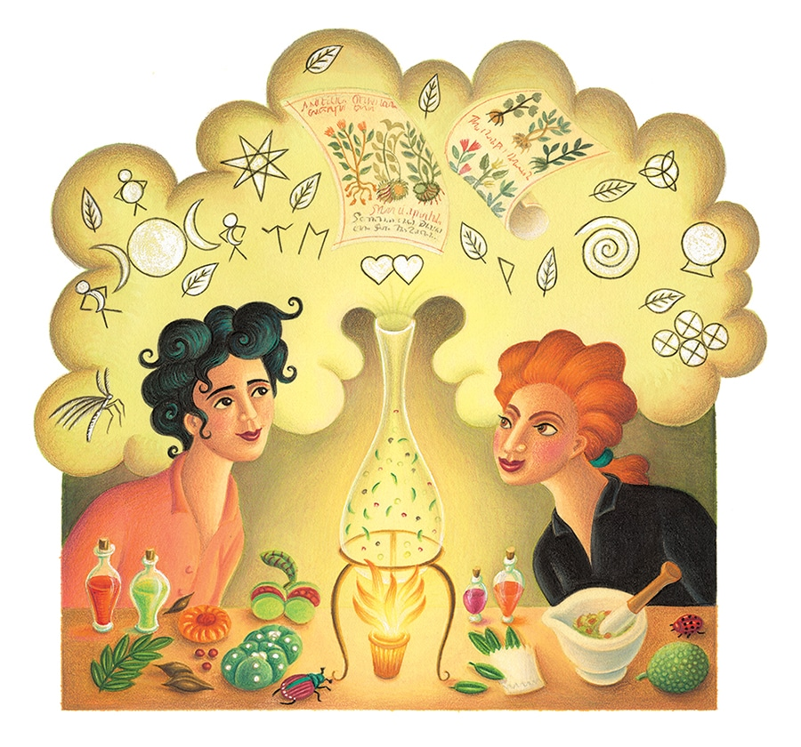 Illustration 17 'Leonora Carrington and Remedios Varo cook up weird concoctions' (Pixel dimensions available w3604 x h3356)