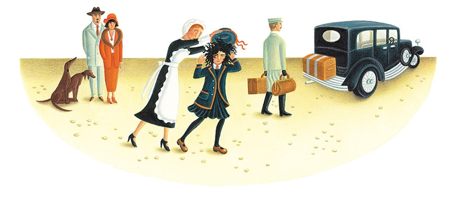 Out of This World: The Surreal Art of Leonora Carrington Gallery. Illustration 7 'Young Leonora being packed off to boarding school' (Pixel dimensions available w4495 x h2046)