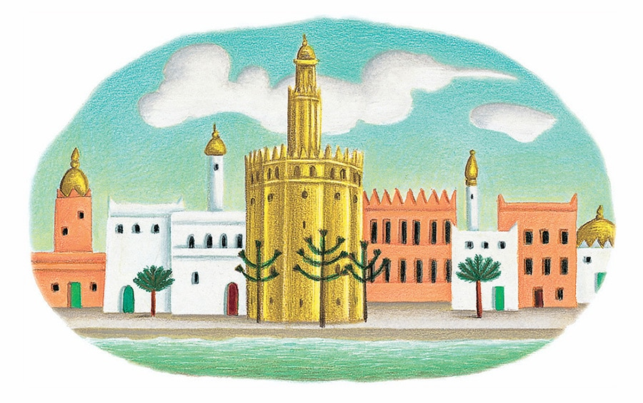 Prince of the Birds Gallery. Illustration 17 'The City of Seville' (Pixel dimensions available w1305 x h819)