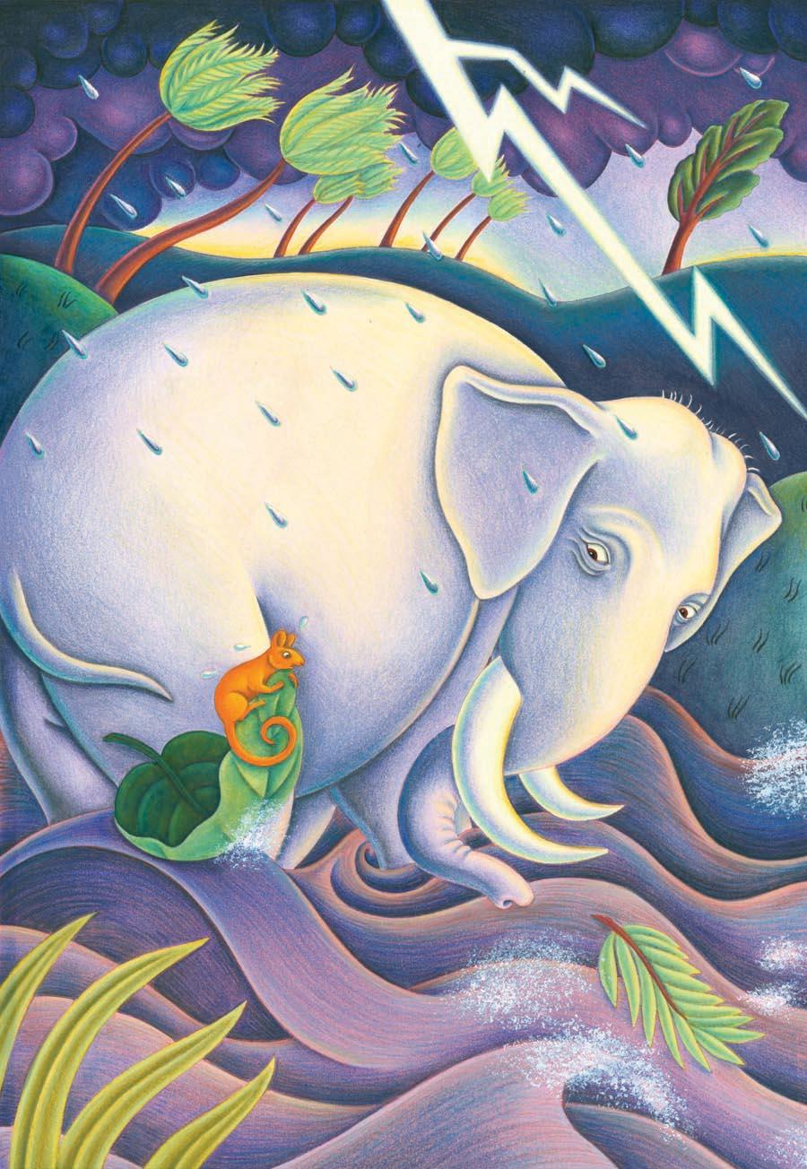 Robi Dobi by Madhur Jaffrey Gallery. Illustration 1 'Robi Dobi heard a little squeaking sound' (Pixel dimensions available w2932 x h4248)