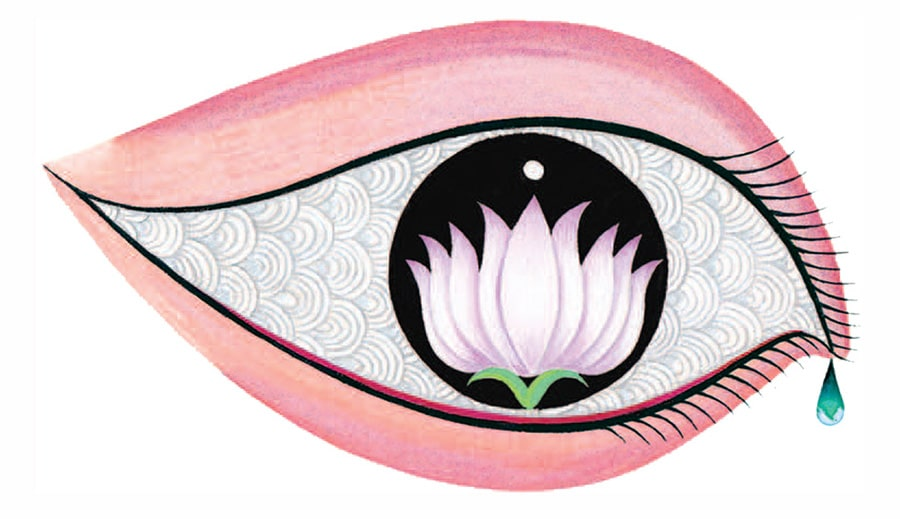 Tales from India by Jamila Gavin Gallery. Illustration 1 'Lord Brahma had opened his eyes'