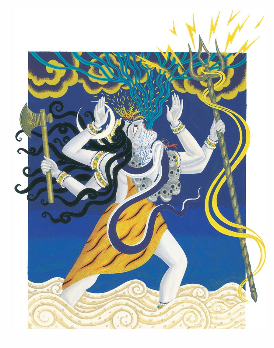 Tales from India by Jamila Gavin Gallery. Illustration 4 'How Lord Shiva became Blue Throated'