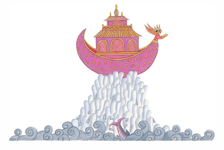 Tales from India by Jamila Gavin Gallery. Illustration 5 'The fish spoke to Manu in a loud and solemn voice'