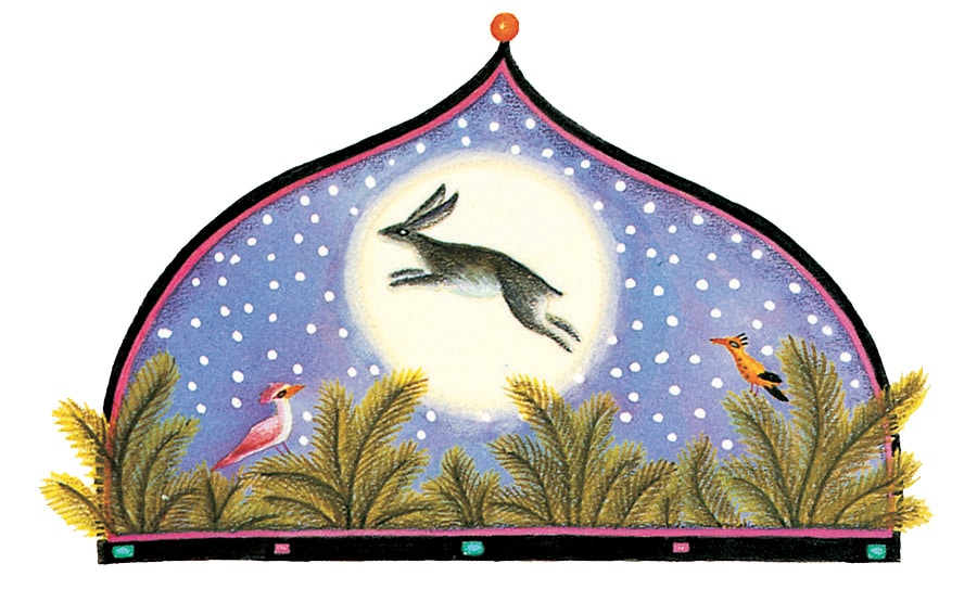 The Barefoot Book of Animal Tales Gallery. Illustration 1 'The Rabbit in the Moon'