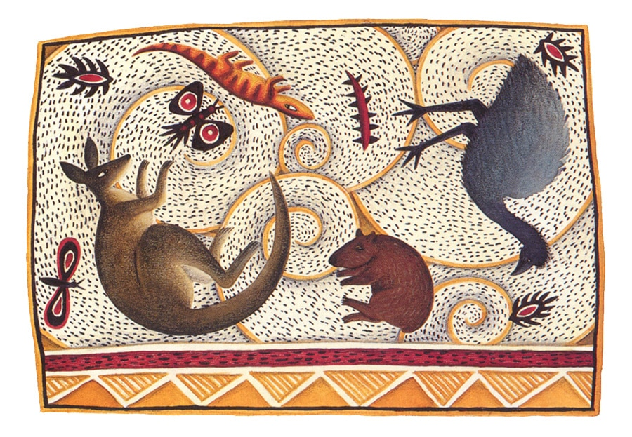 The Barefoot Book of Animal Tales Gallery. Illustration 3 'The Dreamtime'