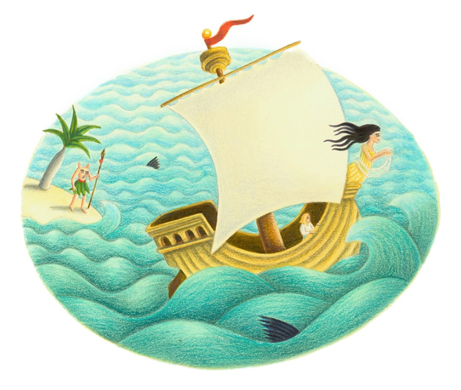 Illustrations for Children's Picture Books 45 SHIP (Pixel dimensions available w1464x h1137)