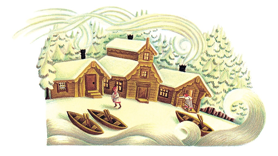 Illustration 7 'From Why the Sea is Salty, the home of a poor fisherman' (Pixel dimensions available w1878 x h1044)