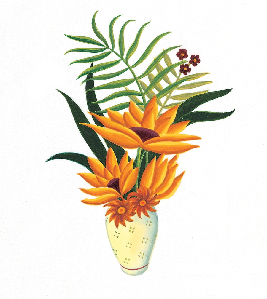 Illustration 15 'Based on one of Henri Rousseau's beautiful flower paintings' (Pixel dimensions available w1232 x h1596)