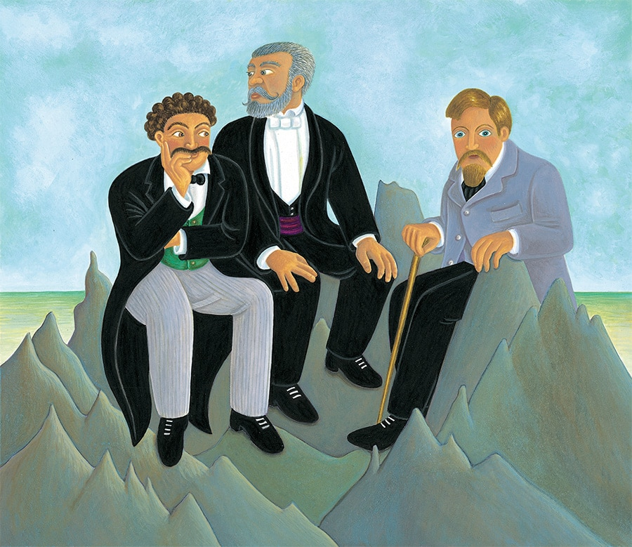 The Fantastic Jungles of Henri Rousseau Gallery. Illustration 17 'The art experts are mean about Henri Rousseau' (Pixel dimensions available w3141 x h2730 includes bleed)