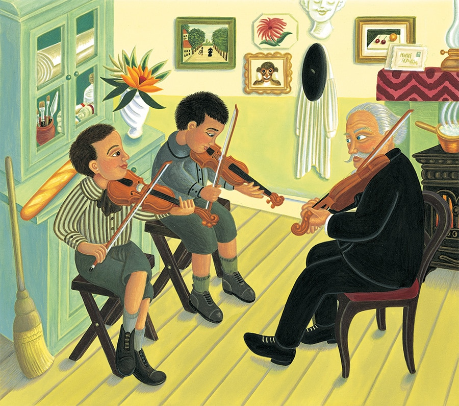 The Fantastic Jungles of Henri Rousseau Gallery. Illustration 21 'Henri Rousseau gives music lessons in his spare time' (Pixel dimensions available w3100 x h2727 includes bleed)