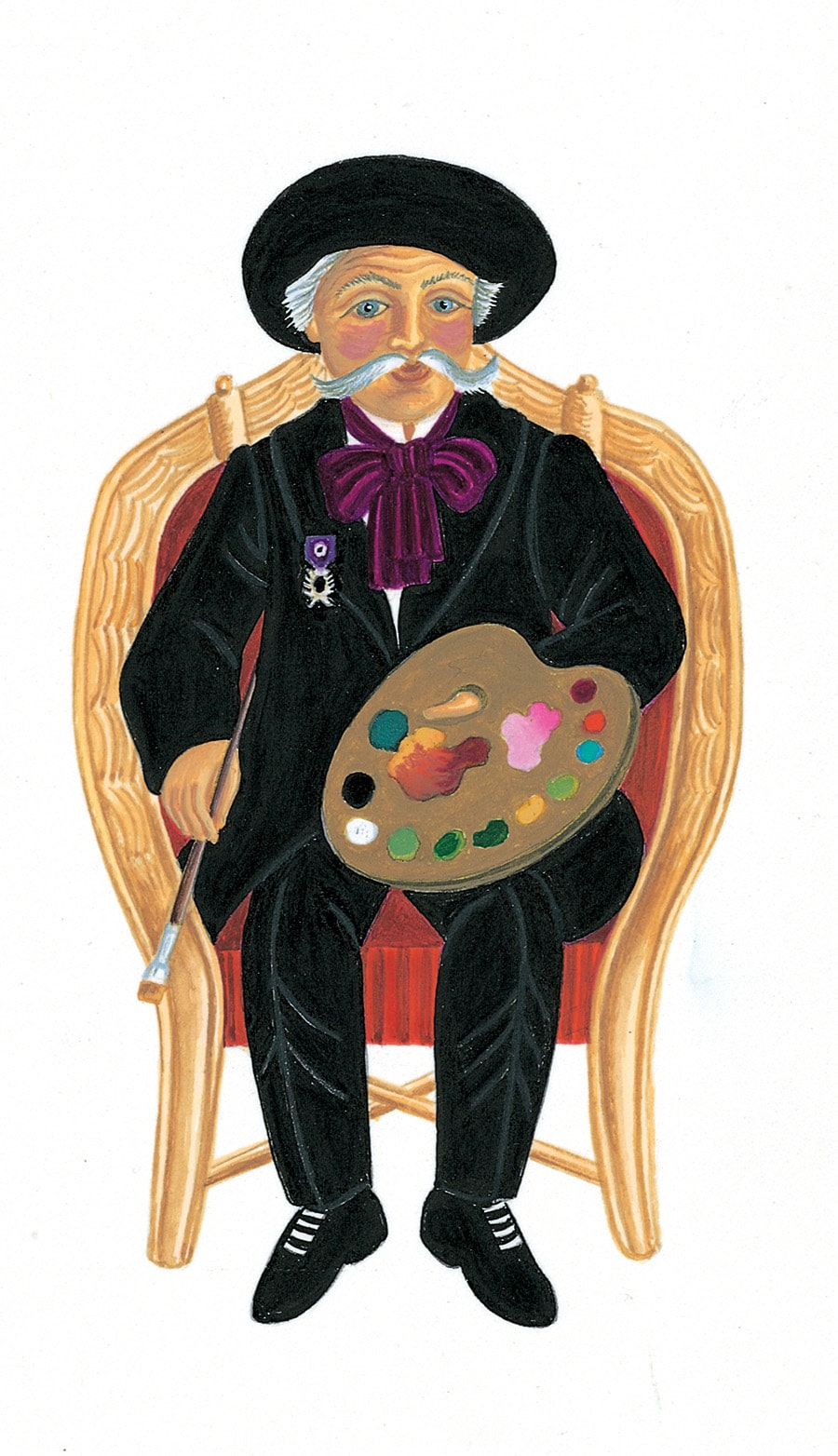 Illustration 29 'The remarkable and gifted Monsieur Henri Rousseau' (Pixel dimensions available w822 x h1466)