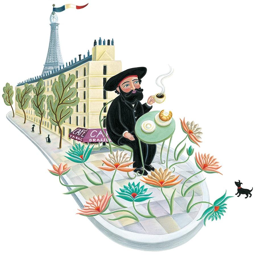 Illustration 3 'Henri Rousseau's petit déjeuner a Paris' (Pixel dimensions available w2940 x h2921)
