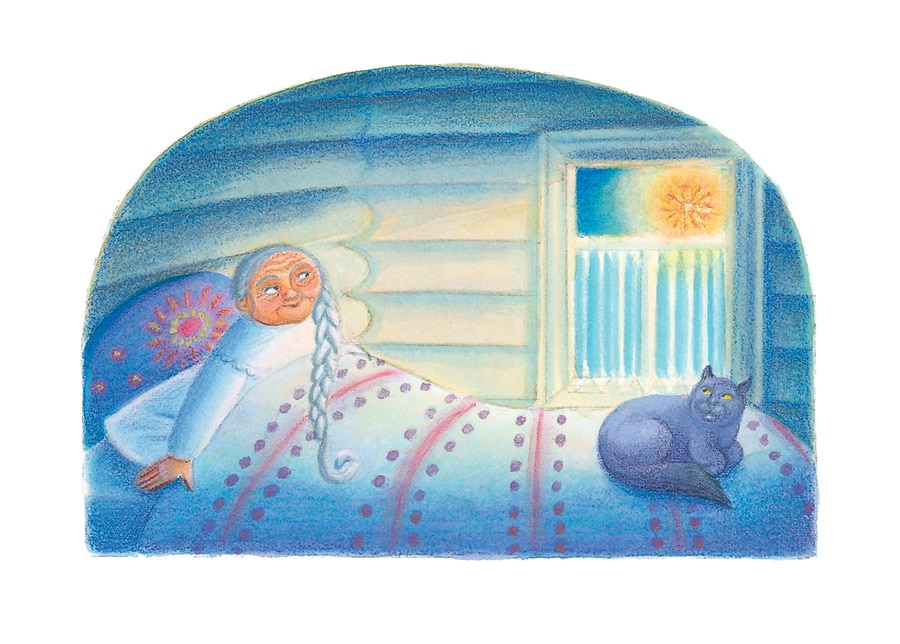 Illustration 12 'The bright star shines through Babushka's window' (Pixel dimensions available w2052 x h2735)