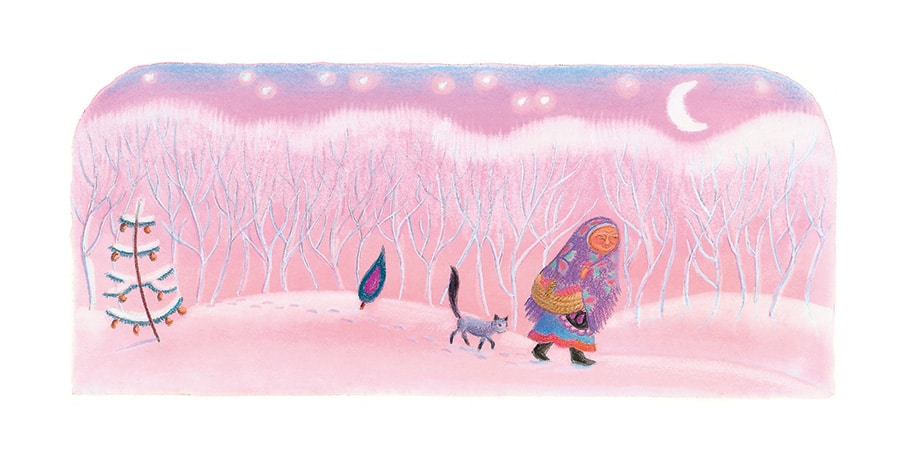 Illustration 19 'Babushka and her cat walked and walked' (Pixel dimensions available w1897 x h846)