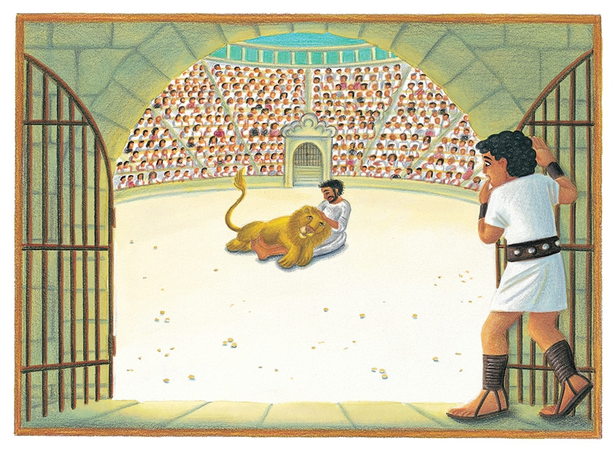 Illustration 36 'Androcles and the Lion' (Pixel dimensions available w2193 x h1595)