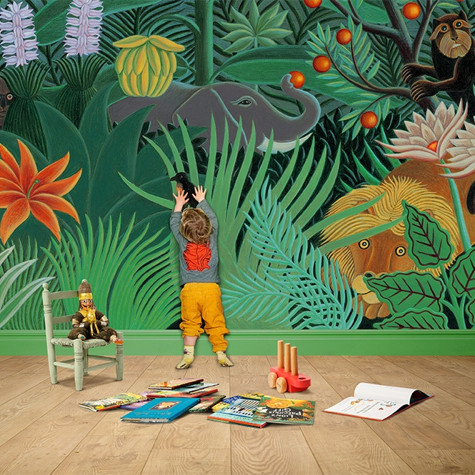 Wall Mural Playroom 'Henri's Jungle'