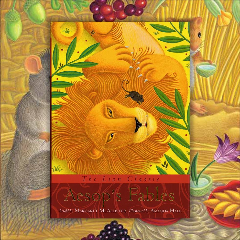 Illustration Stock Art - The Lion Classic Aesop's Fables